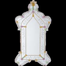 Italian Mirror in Murano Glass in transparent and multicolor