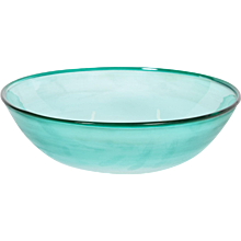 Italian Bowl in Murano Glass in light-green, Cenedese 1970s