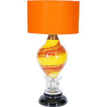 Italian Venetian Table lamp in Murano Glass, 1970s