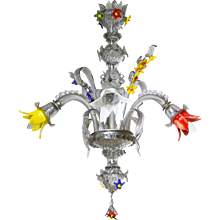 Italian Chandelier in Murano Glass, Galliano Ferro circa 1970s,