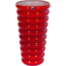 Italian Venetian Vase in Murano Glass red, Cenedese 1970s