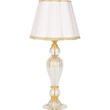 Italian Venetian Table lamp in Murano Glass 24K Gold, Seguso