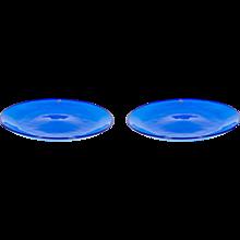Italian Venetian Dishes in Murano Glass blue