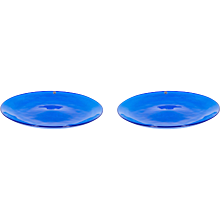 Italian Venetian Dishes in Murano Glass blue