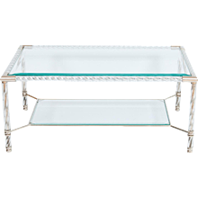 Italian Murano Glass cocktail Table in Murano Glass transparent