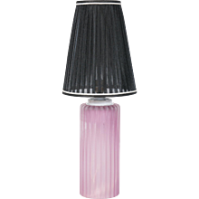 Italian Venetian Table lamp in Murano Glass pink