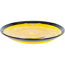 Italian bowl in Murano Glass  in yellow and black