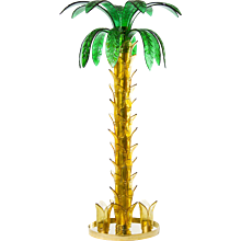 Italian Floor lamp Palm in Murano Glass amber and green, 1980s