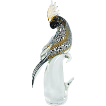 Italian Parrot in Murano Glass, by Alberto Donà in 1980s