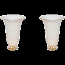Pair of Italian Murano Table Lamps, Attributed to Barovier around 1980s
