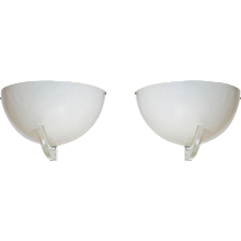 Pair of Italian Murano Glass sconces, attributed to Venini around 1960s.