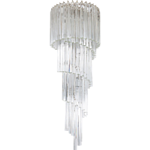 Italian Spiral Chandelier attributed to Camer Glass around 1970s