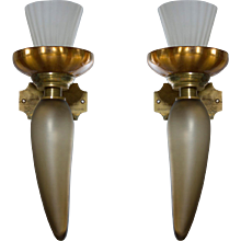 Pair of Italian Venetian Murano Glass Sconces around 1950s