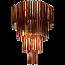 Italian Venetian Murano Glass Chandelier attributed to Venini around 1970s