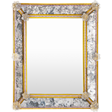 Italian Murano Glass  Rectangular Mirror, Attributed to Pauly & Co, circa 1950s