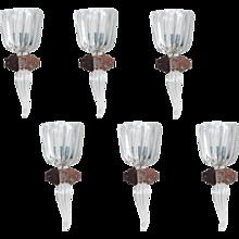 Six Italian Sconces in Murano Glass, Seguso 1950s