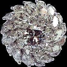 Platinum Diamond Cluster Dome Ring