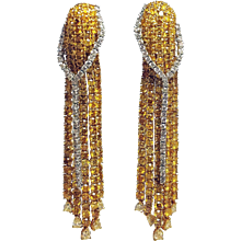 18.32cttw Fancy Yellow Diamond Earrings