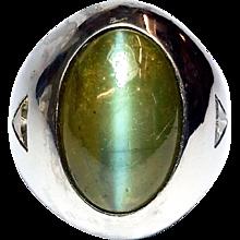 Men's Platinum Cat's Eye Chrysoberyl Ring