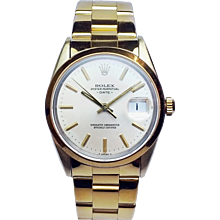 Rolex 34mm Gold Shell Date