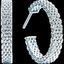 Tiffany & Co Silver Somerset Hoop Earrings