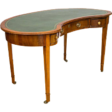 George III Hepplewhite Style Kidney-Shaped Writing Table
