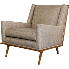 Mid-Century Square Form Lounge Chairs in the Manner of T.H. Robsjohn-Gibbings