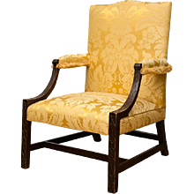 Georgian Mahogany Gainsborough Library Armchair