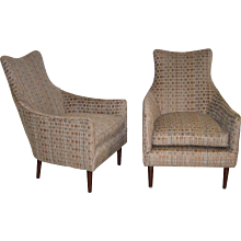 A Pair of Mid Century Armchairs in the Manner of Adrian Pearsall