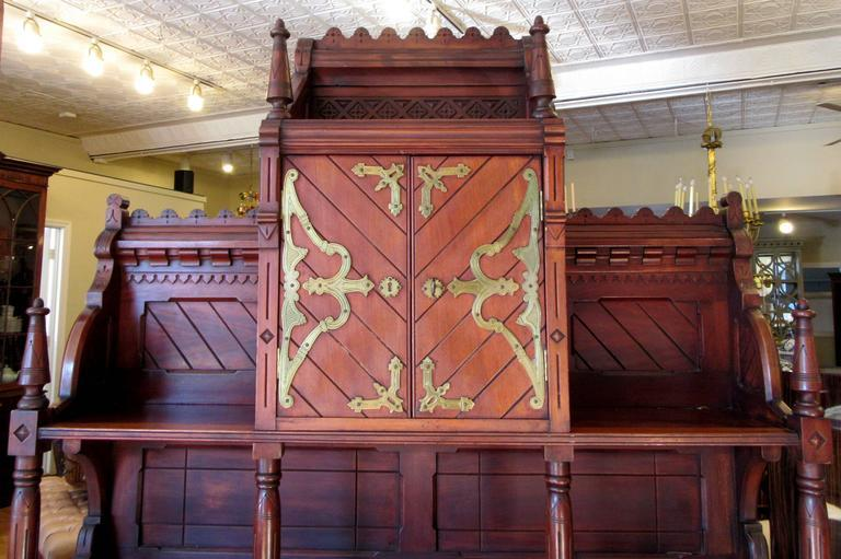 Victorian Gothic Revival Buffet In The Manner Of Architect