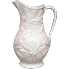 Floral Design 19th Century English Pairian Ware Pitcher