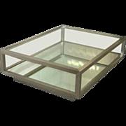 Brushed Steel Rolling Platform Cocktail Table