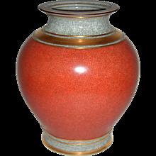 A Large Mid Century Royal Copenhagen Craquelé Vase