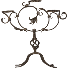 Antique French Hand-Forged Iron Plant Stand circa 1870