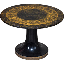 Vintage Italian Piero Fornasetti Side Table Original Label circa 1960