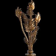 French Vintage Brass Palm Leaf Floor Lamp,  circa 1965