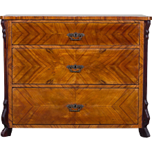 Antique German Louis Philippe Cherrywood Chest of Drawers circa 1850