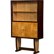 Vintage Italian Art Moderne Period Cabinet, Palisander and Birch Wood, circa 1940