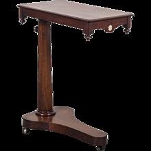 Antique English Mahogany Tilt Top Reading Table circa 1840