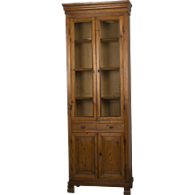 French Louis Philippe Period Tall, Slender Pine Bookcase, circa 1850