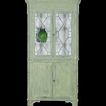 English Painted Corner Cabinet circa 1840