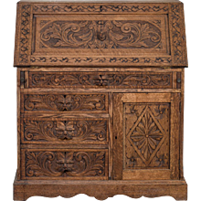 Antique English Arts and Crafts Secretary Base circa 1875