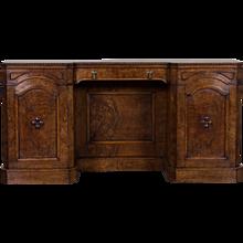 Antique English Pollard Oak Sideboard Buffet Credenza circa 1865