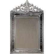 "Antique Venetian Style French Pareclose Mirror circa 1890 (37"" w x 59"" h)"