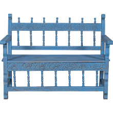 Antique French Painted Bench circa 1890
