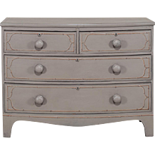 Painted Sheraton Bowfront Chest of Drawers circa 1870