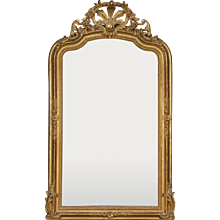 "Antique French Régence Style Gold Leaf Mirror circa 1890 (40"" wide x 66"" high)"