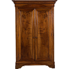 Antique French Louis Philippe Walnut Armoire circa 1850
