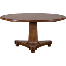English Regency Style Cherrywood Round Pedestal Dining Table