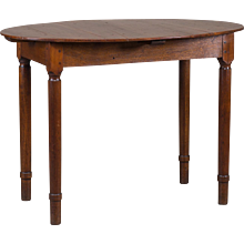Antique French Restauration Louis Philippe Oval Top Table circa 1830